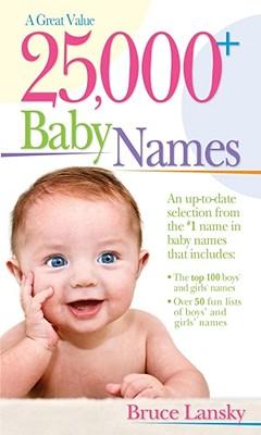 25,000+ Baby Names By Lansky, Bruce